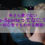 今さら聞けない「e-Sportsってなに?」~初心者でもわかる解説~